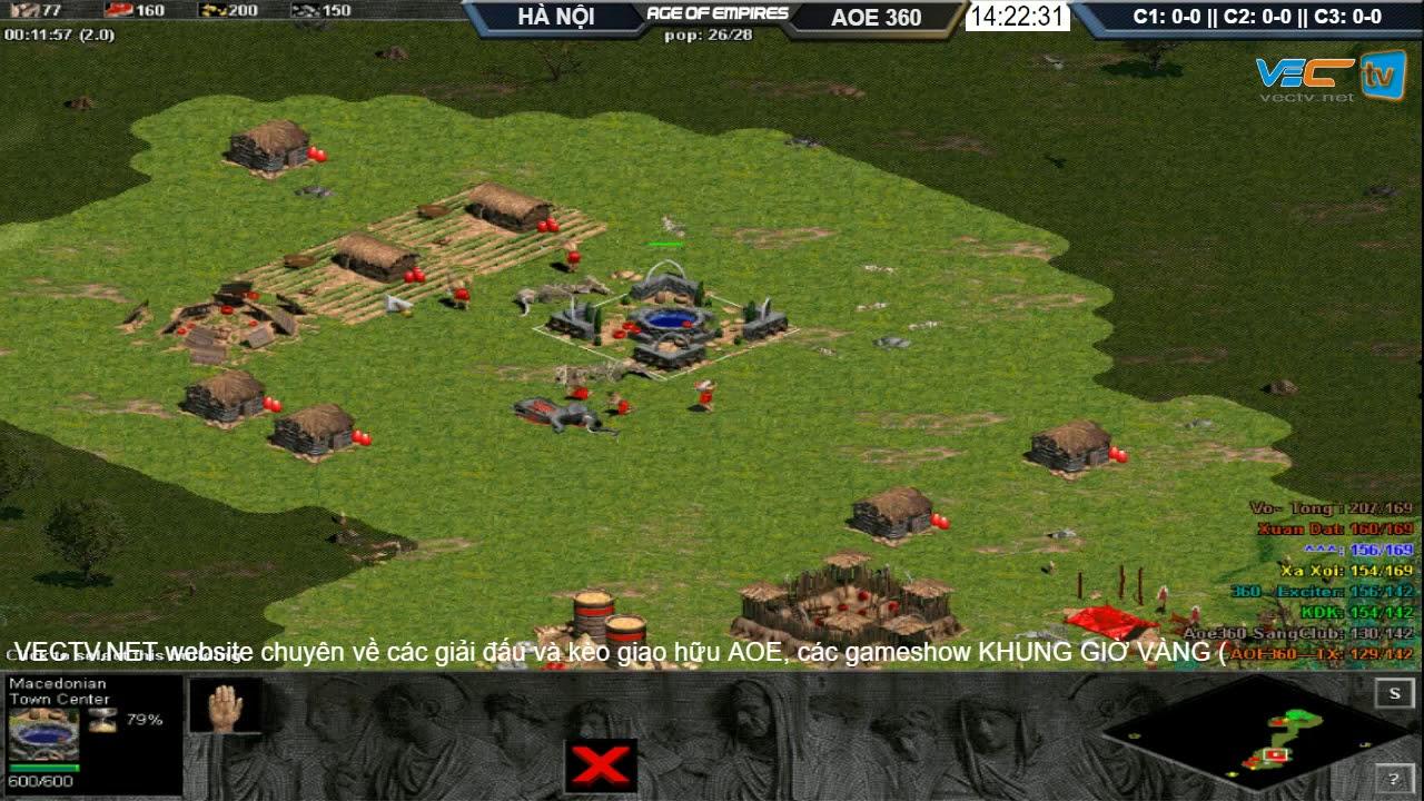 AOE | 4vs4 Random  Hà Nội   vs Hà Nội ngày 7 10 2017.BLV: V_Mun
