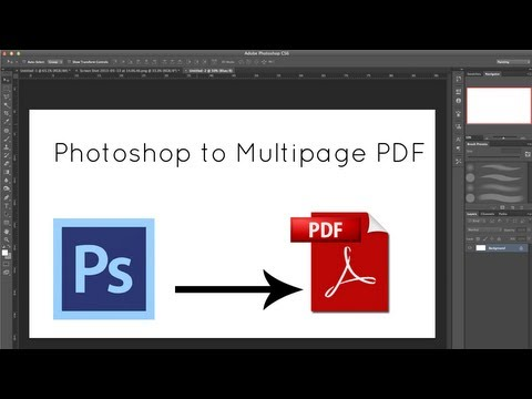 Photoshop Tips - Create A PDF In Photoshop