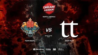 Team Xolotl vs Team Team, DreamLeague Minor Qualifiers NA,bo3, game 2 [Mila & Inmate]