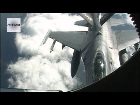 Footage of A KC-135 Tanker crew...