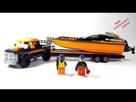 """Конструктор Lego City 60085 """"Джип 4х4 и мощный катер"""""""