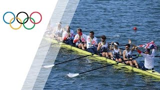 Great Britain win gold, Germany win silver and the Netherlands win bronze in men's eight rowing in Rio 2016. Subscribe to the ...
