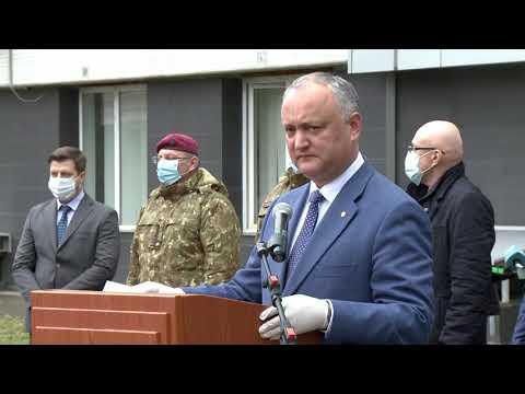 Președintele Republicii Moldova a participat la ceremonia de donare a unui prim lot din asistența umanitară acordată de România