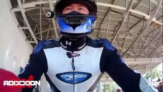 Helmet Cam Motorcycle Racing with Adixxion