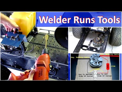 Alternator Welder Runs 120v Power Tools - How To