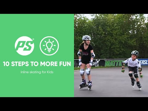 Inline skating for Kids - 10 steps to more FUN - Powerslide Inline Skates (видео)