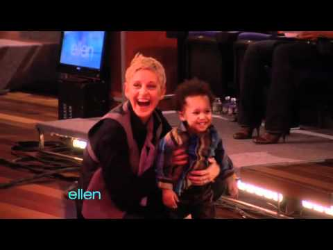 Ellen Plays Around with Baby David Video