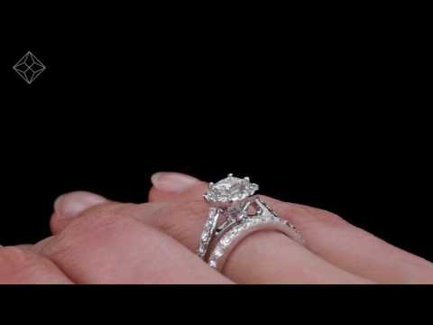 UT51 - Platinum Set Roxy Diamond Wedding & Engagement Ring Set