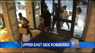 CBS2's Magdalena Doris has surveillance video released by police of a group of alleged thieves targeting stores on the Upper East Side.