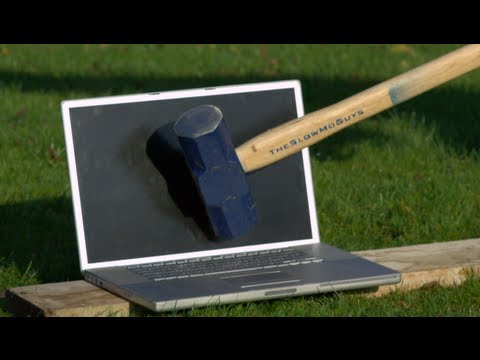 Slow Mo Guys - Smashing A Mac With Sledgehammer