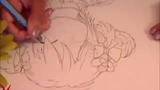 Draw a kawaii flower girl ~part 1: outlining~