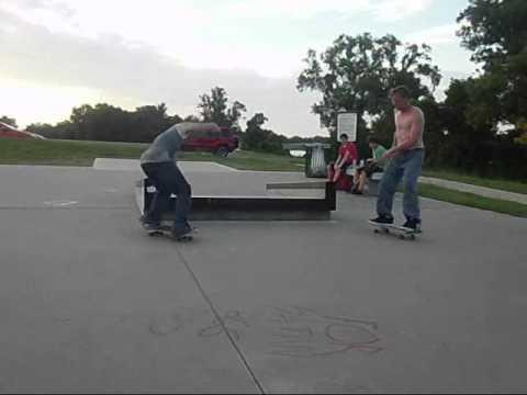 Justin, Brandon, and Friends at Stoner Skatepark