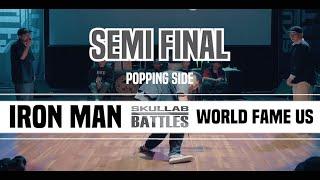 IRON MAN (Iron Bear & Slow Man) vs World Fame Us (Boogaloo Kin & Jaygee) – SKULLAB BATTLES 2019 POPPING SEMI FINAL