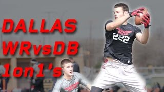 Dallas WR vs DB 1 on 1's | Nike Football The Opening Regionals