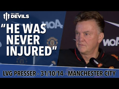 never - Van Gaal press conference, Manchester United vs Manchester City, 31st Oct 2014: injury updates, player news, all in time for the big derby! Subscribe, FREE, for more MUFC: http://bit.ly/DEVILSsub...