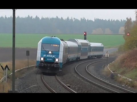 Vlaky (Züge) Marktredwitz - Hof (DE), 27. 10. 2016