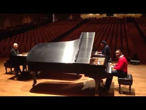Chucho Valdes, Michel Camilo and Gonzalo Rubalcaba – Rehearsal San Francisco June 2015