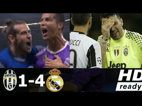 Juventus Vs Real Madrid 1-4 All Goals & Highlights
