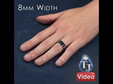 Matching Tungsten Rings - PIATTO, Flat Wedding Bands, Sizes 4mm, 6mm, 8mm