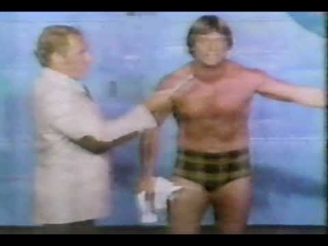 Roddy Piper after tearing up Backlund's picture