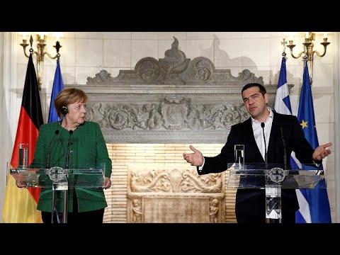 Griechenland: Angela Merkel zu Besuch - zum ersten Ma ...