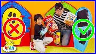 Don't Choose the Wong Door Challenge! Where's the Cereal in the Playhouse?