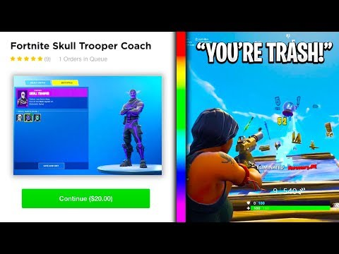 So I Hired A Skull Trooper Coach, Then DESTROYED Him In A 1v1...