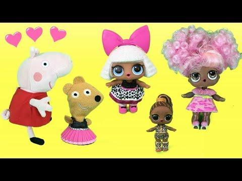 Peppa Pig en español - Peppa pig en español: Pepa y Teddy juegos con 100 accesorios para muñecas lol surprise y George