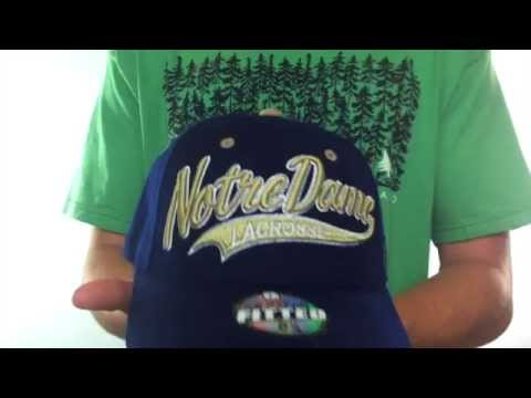 Notre Dame 'SWOOP LACROSSE' Navy Fitted Hat by Zephyr