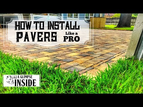 How To Install Pavers Like A Pro | Outdoor Project | Outdoor Living Space | Landscaping