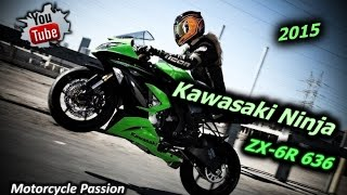 11. Kawasaki Ninja ZX-6R 636 - SportBike.  Best Kawasaki Motorbike  & Top Exhaust Sound; Crazy Speed.