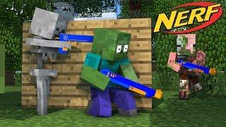 Video Monster School : NERF WAR CHALLENGE - Minecraft Animation MP3, 3GP, MP4, WEBM, AVI, FLV Desember 2018