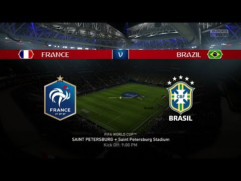 2018 FIFA World Cup Russia - France Vs Brazil (Full Gameplay)