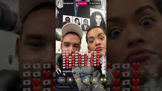 LIAM PAYNE AND RITA ORA LIVE ON INSTAGRAM 31-01-18