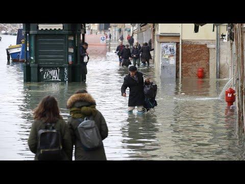 Venedig: Hunderte Millionen Euro Hochwasserschäden