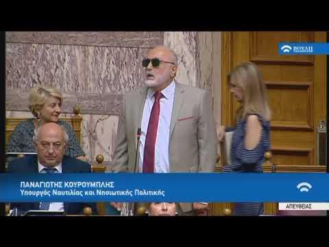 Π.Κουρουμπλής (Υπουργ. Ναυτιλ.και Νησιωτ.Πολιτ.)(Πρόταση δυσπιστίας κατά της Κυβέρνησης)(15/06/2018)