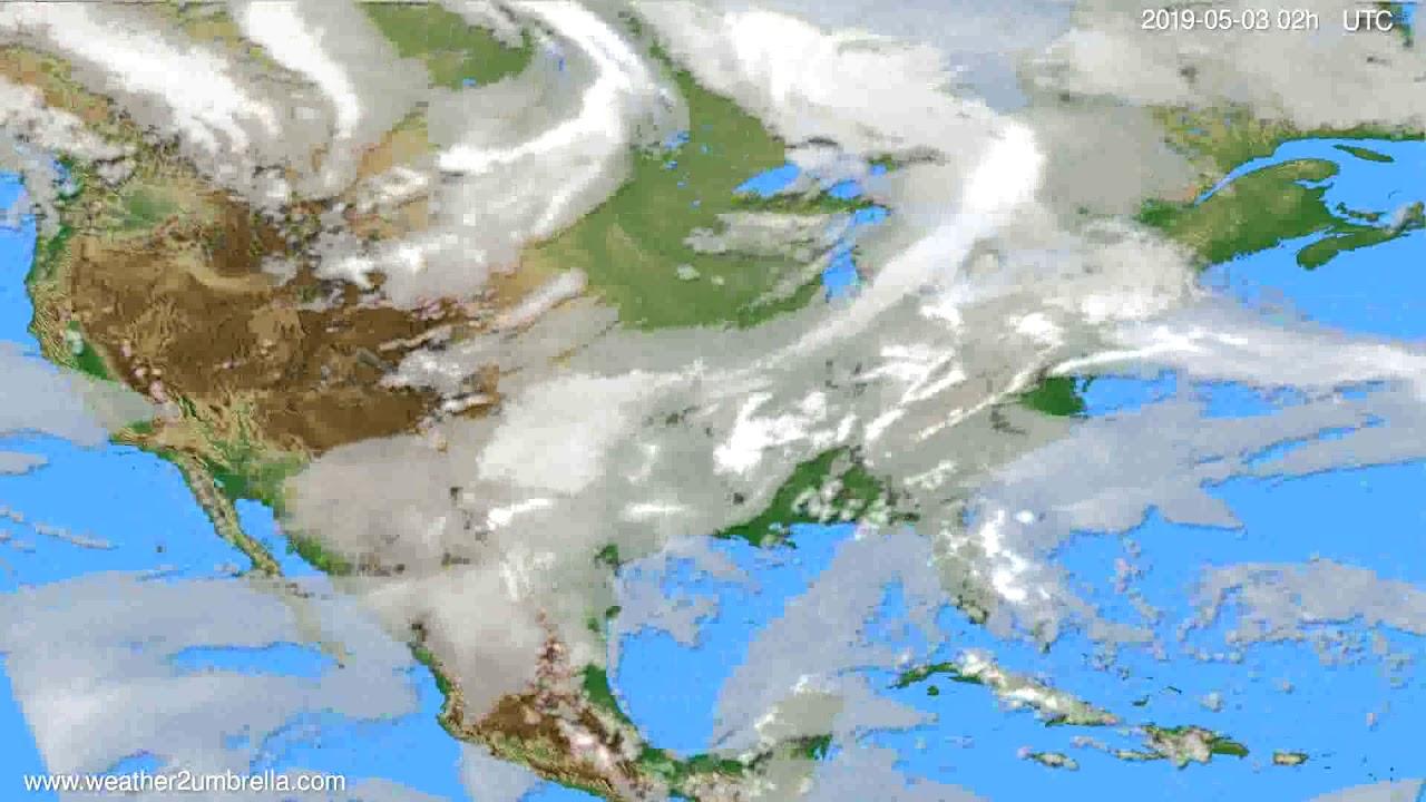 Cloud forecast USA & Canada // modelrun: 00h UTC 2019-05-01
