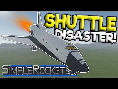 SPACE SHUTTLE CRASH LANDING! - SimpleRockets 2 Gameplay - Simple Rockets Early Access