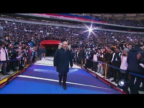100.000 bei Wladimir Putins Wahlkampf im Moskauer Fus ...