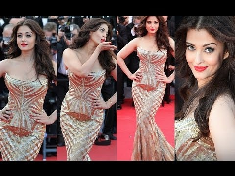 red carpet - Aishwarya Rai in Roberto Cavalli @ Cannes 2014, as well as Sonam Kapoor in Elie Saab & Anamika Khanna. Click here for CANNES red carpet interviews https://ww...