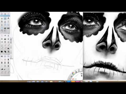 Dia de Los Muertos Speed Drawing with Sketchbook Pro