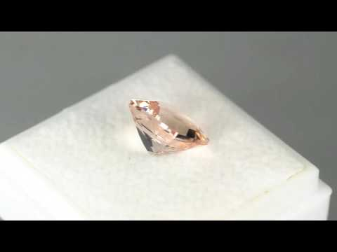 2.71CTS FABULOUS 9MM CUSHION CUT NATURAL PEACH MORGANITE