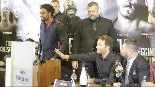 INTENSE!! DAVID HAYE V TONY BELLEW - *FULL* PRESS CONFERENCE- EDDIE HEARN, DAVIES & MATHEWS
