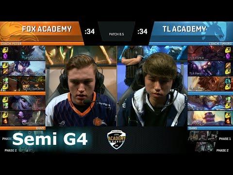 Echo Fox Academy vs Liquid Academy | Game 4 Semi Finals NA Academy League Spring 2018 | FOXA vs TLA (видео)