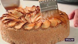 Griķu un plēkšņu kviešu ābolkūka