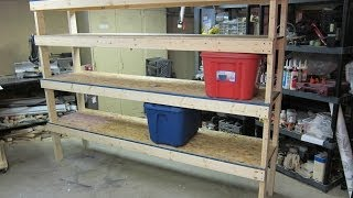 Storage Shelf - Cheap and Easy Build Plans