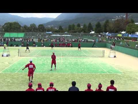14 全国中学校ソフトテニス大会 男子 2回戦 7-3