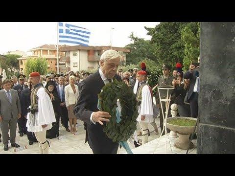 Ο ΠτΔ κατέθεσε στεφάνι στο μνημείο των Ελλήνων πεσόντων στην μάχη του Ρίμινι