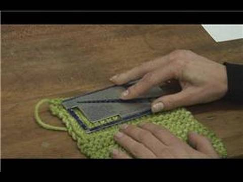 how to measure a gauge in knitting