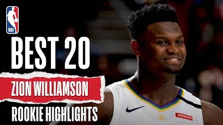 Zion Williamson's 20 BEST Rookie Highlights by NBA